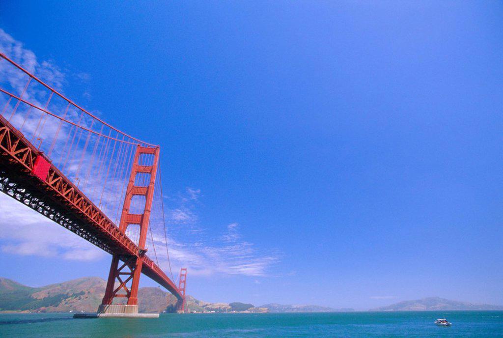 Stock Photo: 1890-75798 The Golden Gate Bridge, San Francisco, California, USA