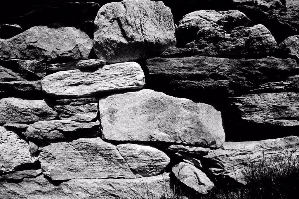 Stock Photo: 1890-75888 Dry stone wall