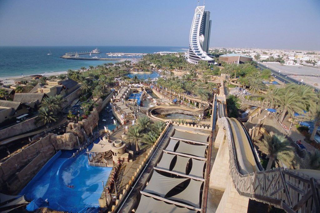 Wild Wadi fun park. Dubai, United Arab Emirates, Middle East : Stock Photo