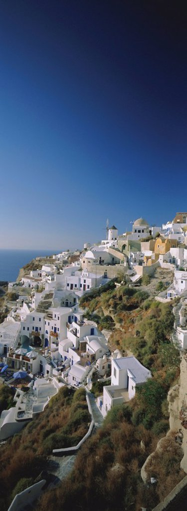 Thira Fira, Santorini, Cyclades Islands, Greece : Stock Photo