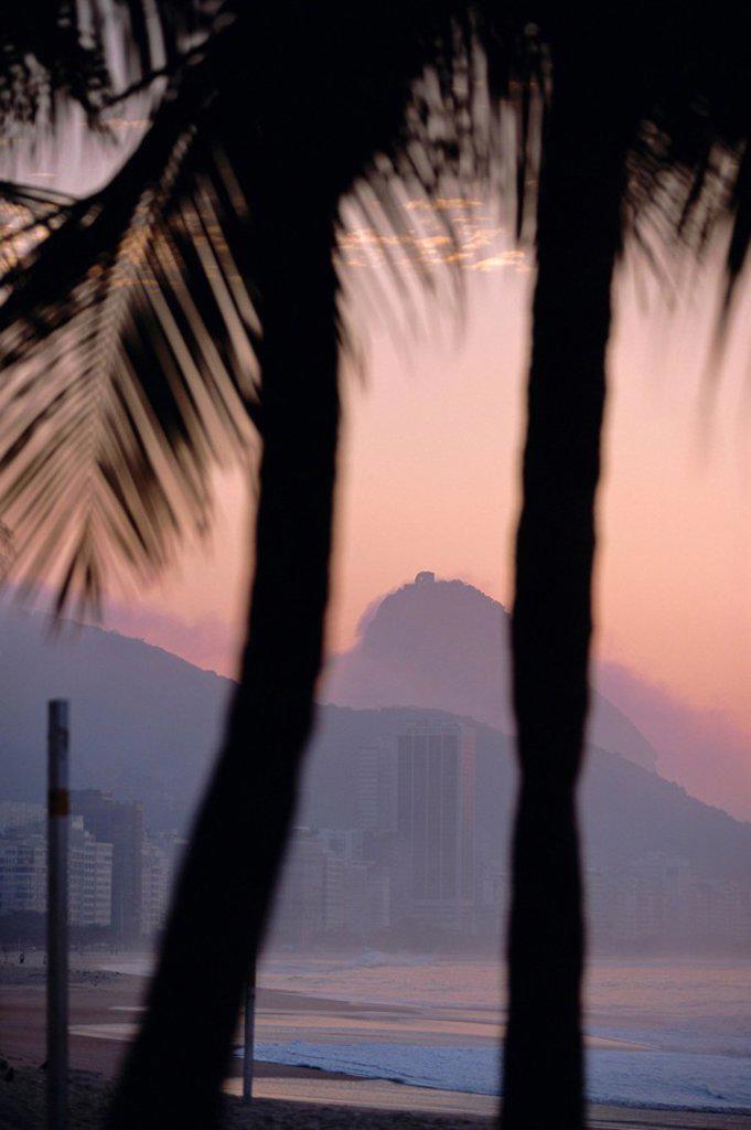 Stock Photo: 1890-76641 Copacabana Beach, Rio de Janeiro, Brazil, South America