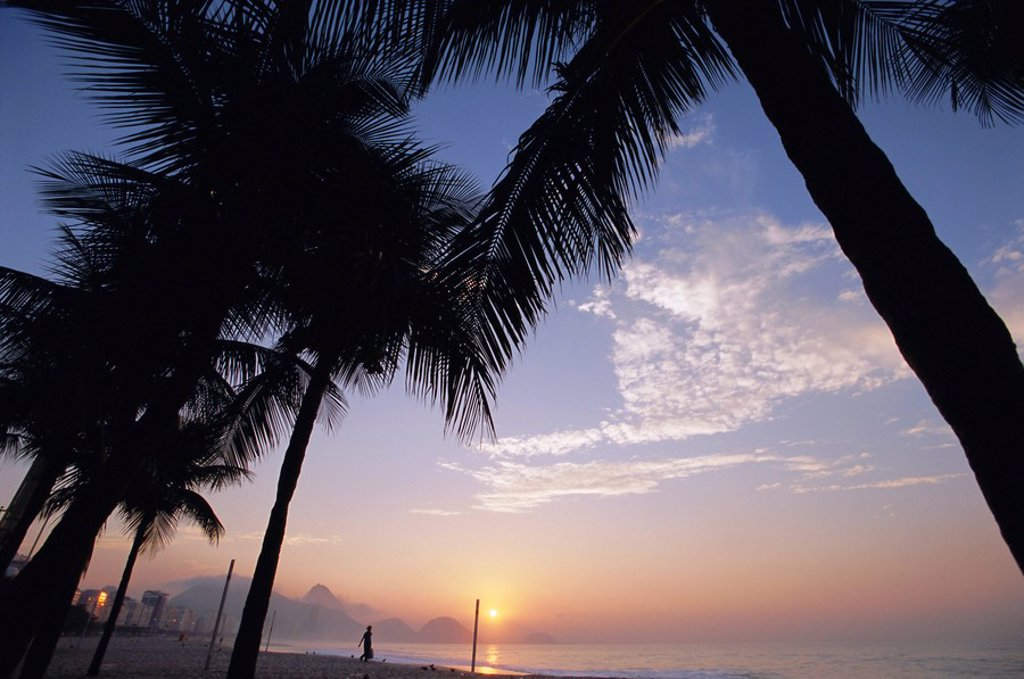Copacabana Beach, Rio de Janeiro, Brazil, South America : Stock Photo