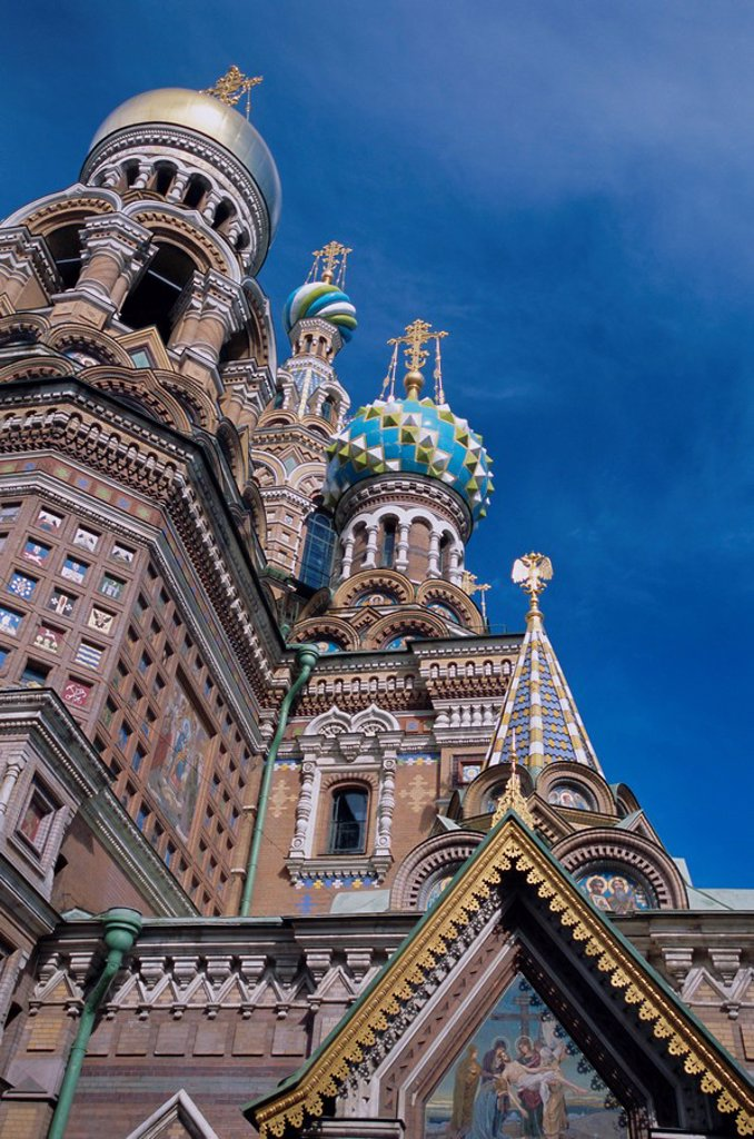 Church of the Resurrection Church on Spilled Blood, UNESCO World Heritage Site, St. Petersburg, Russia, Europe : Stock Photo