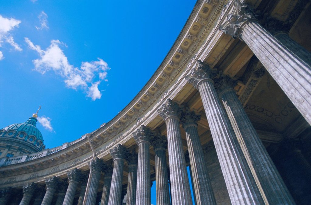 Kasan Kazan Cathedral, St. Petersburg, Russia, Europe : Stock Photo