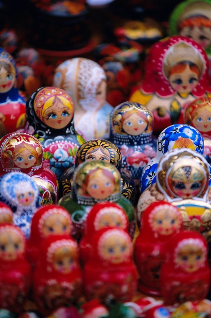 Stock Photo: 1890-76769 Wooden Russian dolls, Russia, Europe