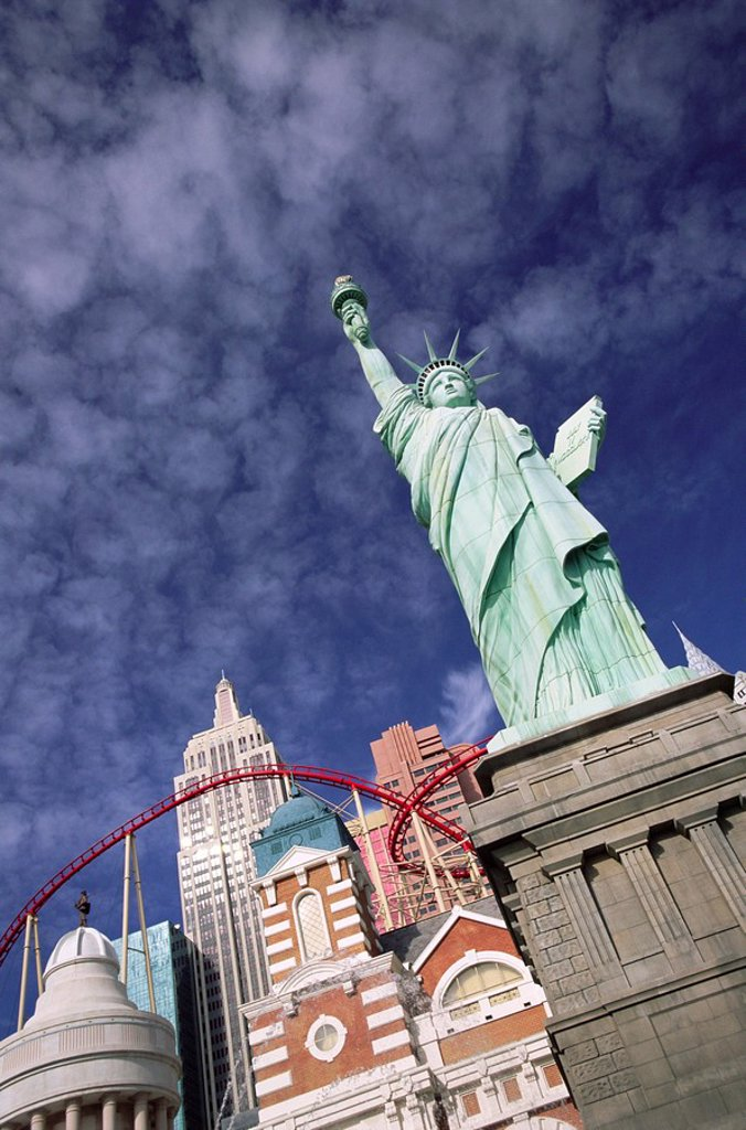 Stock Photo: 1890-76960 New York New York Hotel and Casino, Las Vegas, Nevada, USA, North America