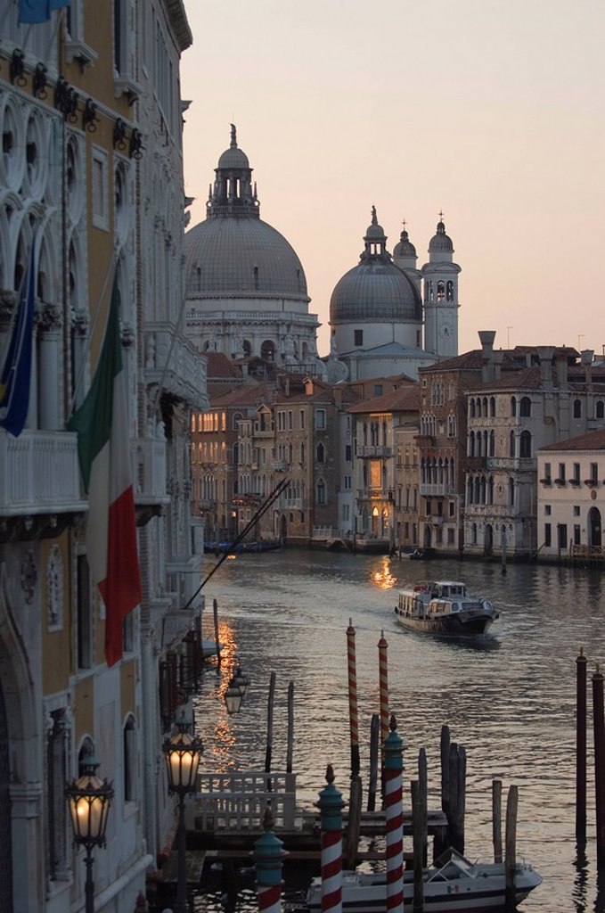 Grand Canal, Evening, Venice, Italy : Stock Photo
