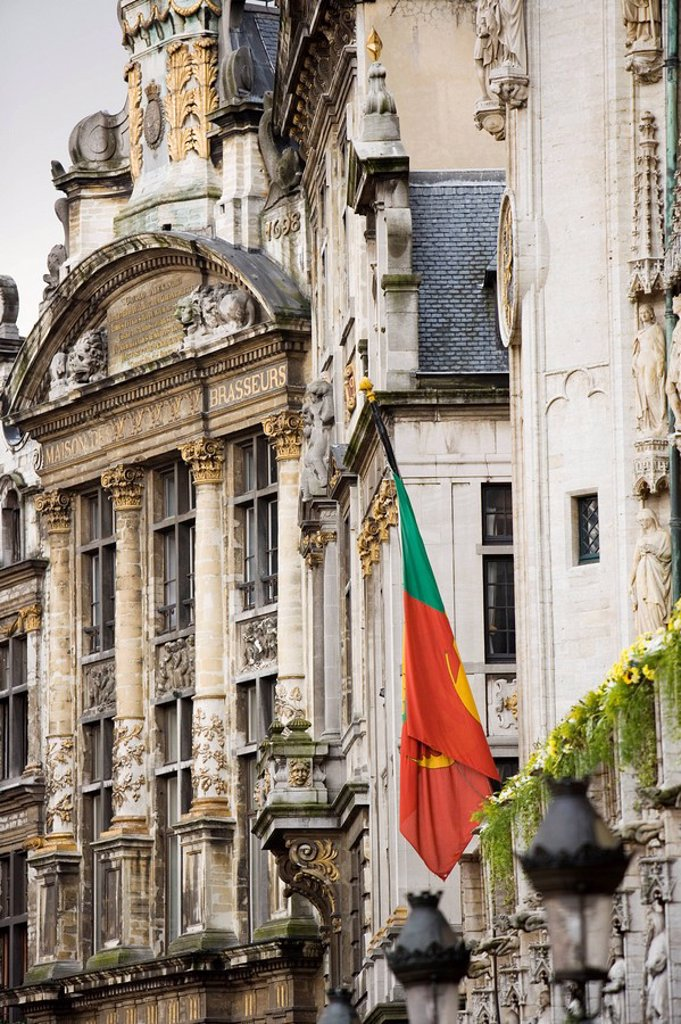 Stock Photo: 1890-78077 Buildings on Grand Place, Brussels, Belgium, Europe