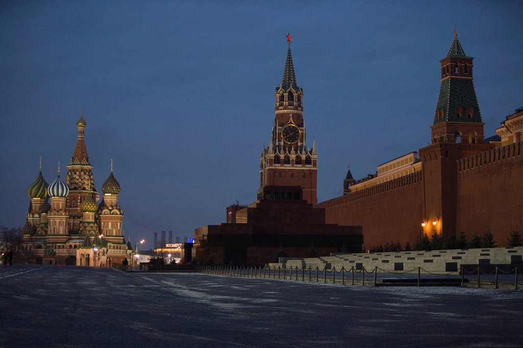 Red Square, UNESCO World Heritage Site, Moscow, Russia, Europe : Stock Photo