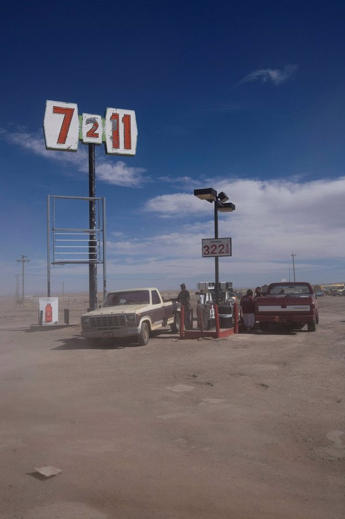 Stock Photo: 1890-78709 Gas station, Arizona, United States of America, North America