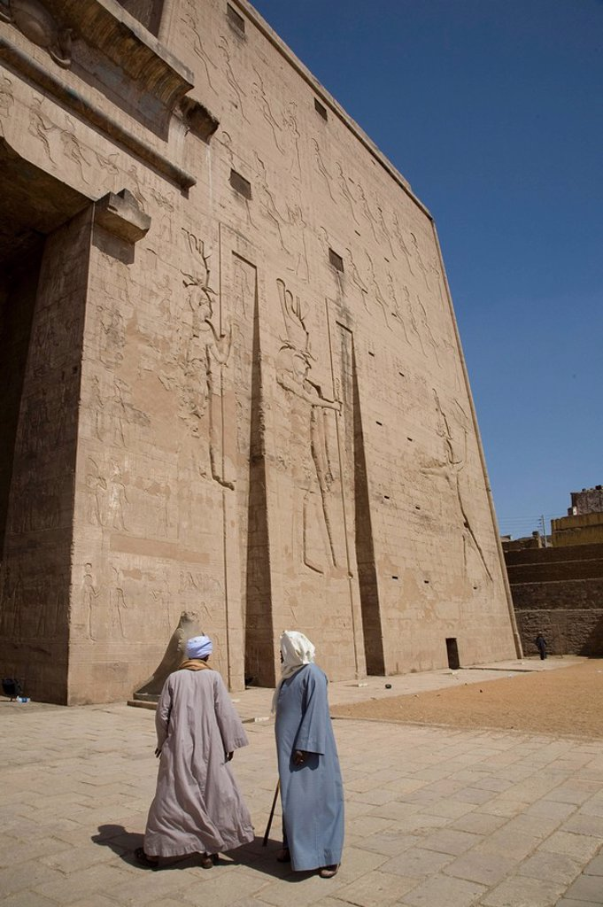 Stock Photo: 1890-80123 The Temple of Edfu, Egypt, North Africa, Africa