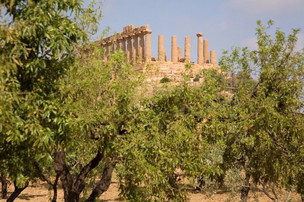 Stock Photo: 1890-80227 Temple of Juno, Valley of the Temples, Agrigento, UNESCO World Heritage Site, Sicily, Italy, Europe