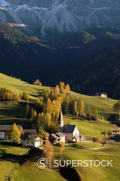 Stock Photo: 1890-80302 Santa Maddalena, Val di Funes, Dolomites, Bolzano province, Trentino_Alto Adige, Italy, Europe