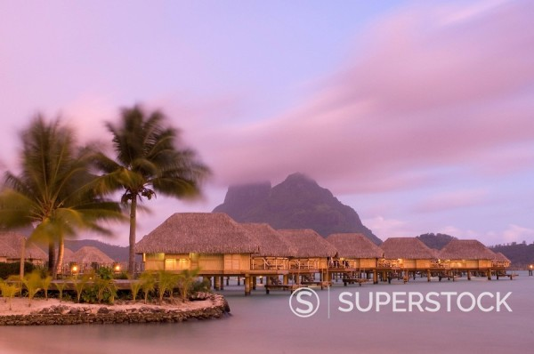 Pearl Beach Resort, Bora_Bora, Leeward group, Society Islands, French Polynesia, Pacific Islands, Pacific : Stock Photo