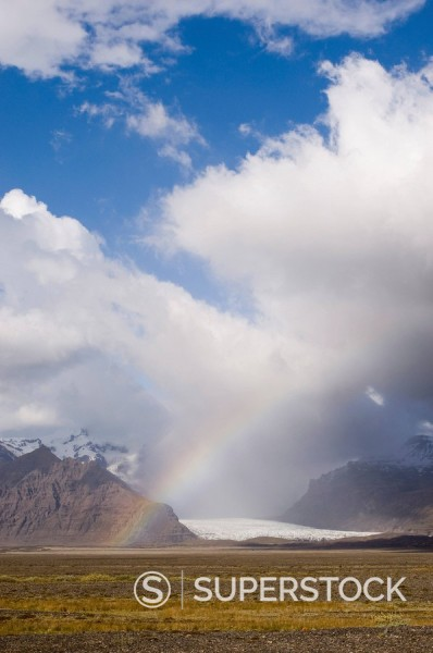 Stock Photo: 1890-80752 Vatnajokull glacier, Skaftafell National Park, South coast, Iceland, Polar Regions