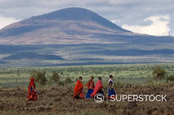 Masai, Amboseli National Park, Kenya, East Africa, Africa : Stock Photo