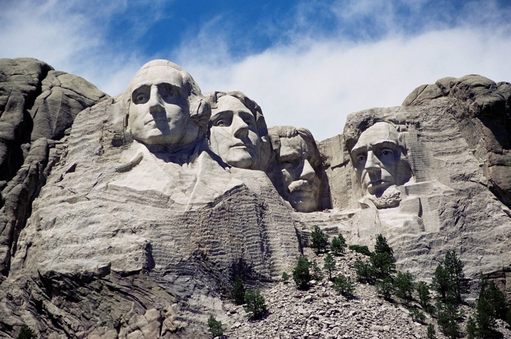 Stock Photo: 1890-81483 Mount Rushmore National Monument, Black Hills, South Dakota, United States of America, North America
