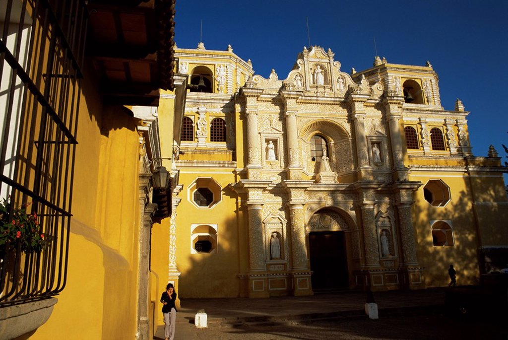 Stock Photo: 1890-82319 La Merced church, Antigua, UNESCO World Heitage Site, Guatemala, Central America
