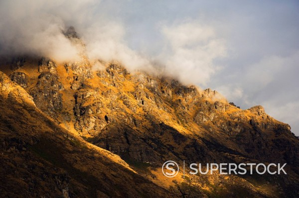 Stock Photo: 1890-82863 The Remarkables, Queenstown, Central Otago, South Island, New Zealand, Pacific
