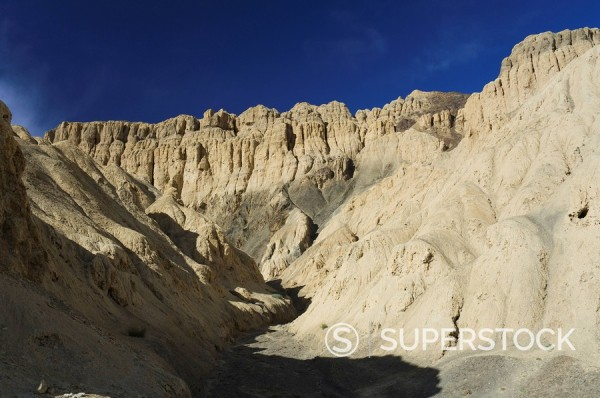 Stock Photo: 1890-83012 Moon Land eroded cliffs, Lamayuru, Ladakh, Indian Himalayas, India, Asia