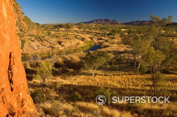 Stock Photo: 1890-83193 Glen Helen Gorge, West MacDonnell National Park, Northern Territory, Australia, Pacific