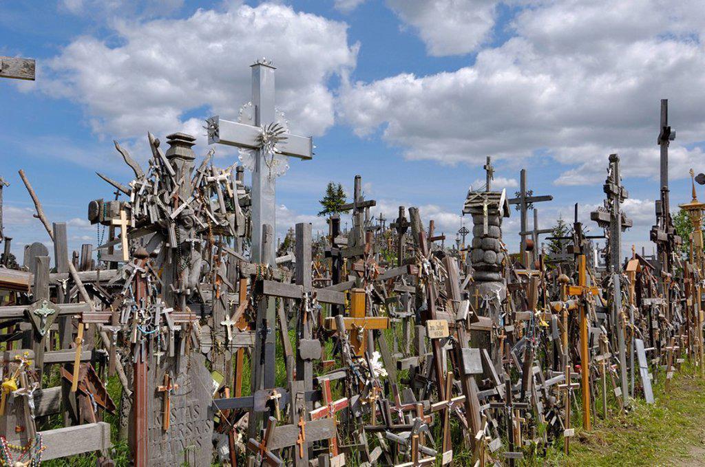 Stock Photo: 1890-83399 Hill of Crosses, near Siauliai, Lithuania, Baltic States, Europe