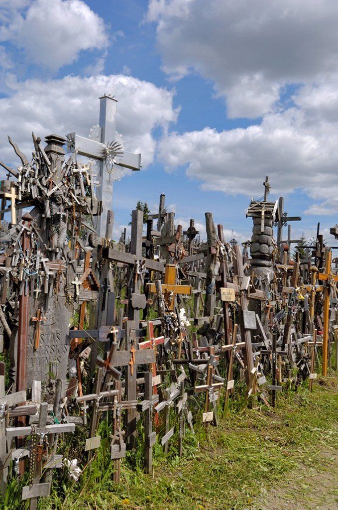Hill of Crosses, near Siauliai, Lithuania, Baltic States, Europe : Stock Photo