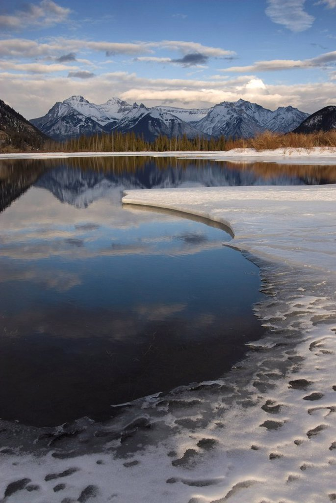 Stock Photo: 1890-84374 Vermilion Lakes, Banff National Park, UNESCO World Heritage Site, Rocky Mountains, Alberta, Canada, North America