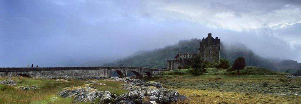 Eilean Donan Castle, Dornie, Lochalsh, Highland region, Scotland, United Kingdom, Europe : Stock Photo