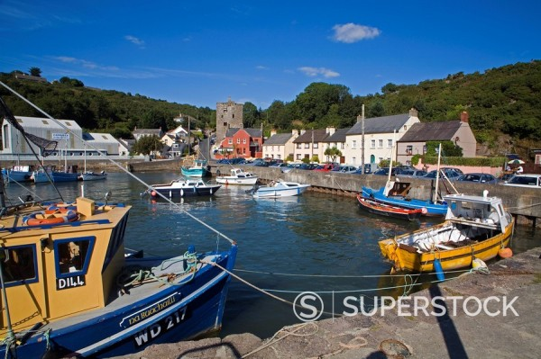 Stock Photo: 1890-85791 Ballyhack fishing village, County Wexford, Leinster, Republic of Ireland, Europe