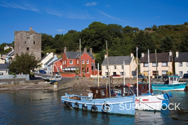 Ballyhack fishing village, County Wexford, Leinster, Republic of Ireland, Europe : Stock Photo