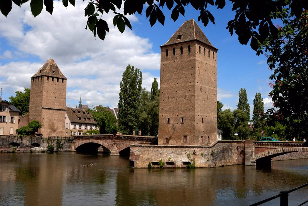 Ponts Couverts, Strasbourg, Alsace, France, Europe : Stock Photo