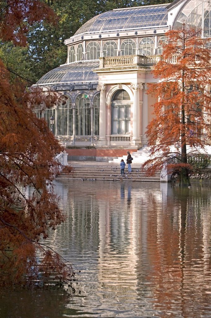 Stock Photo: 1890-86857 Crystal Palace, Retiro Park, Madrid, Spain, Europe