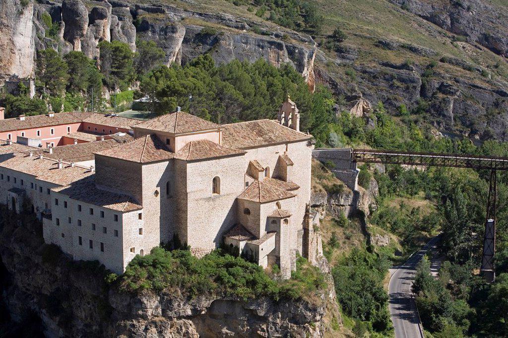 Convento de San Pablo now a Parador de Turismo, Cuenca, Castilla_La Mancha, Spain, Europe : Stock Photo