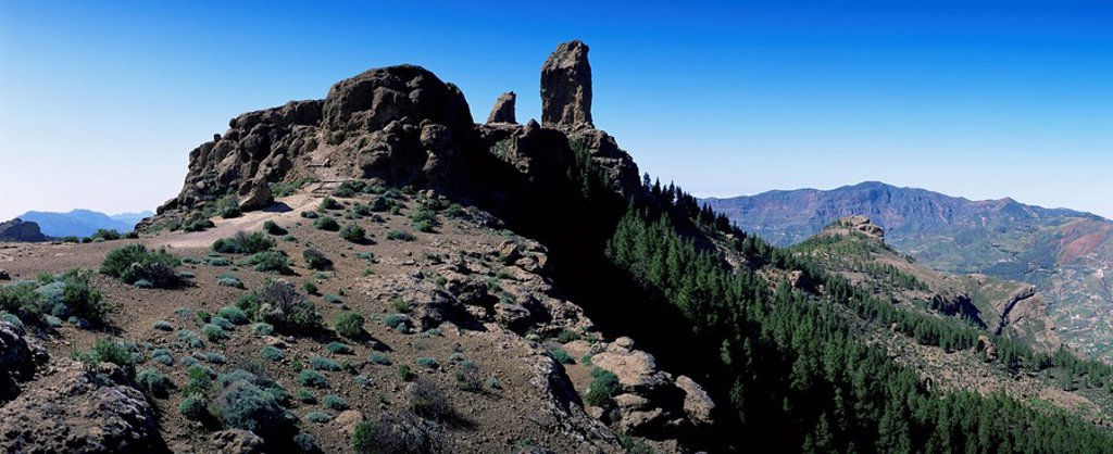 Stock Photo: 1890-87994 Roque Nublo, 1813m, Gran Canaria, Canary Islands, Spain, Europe