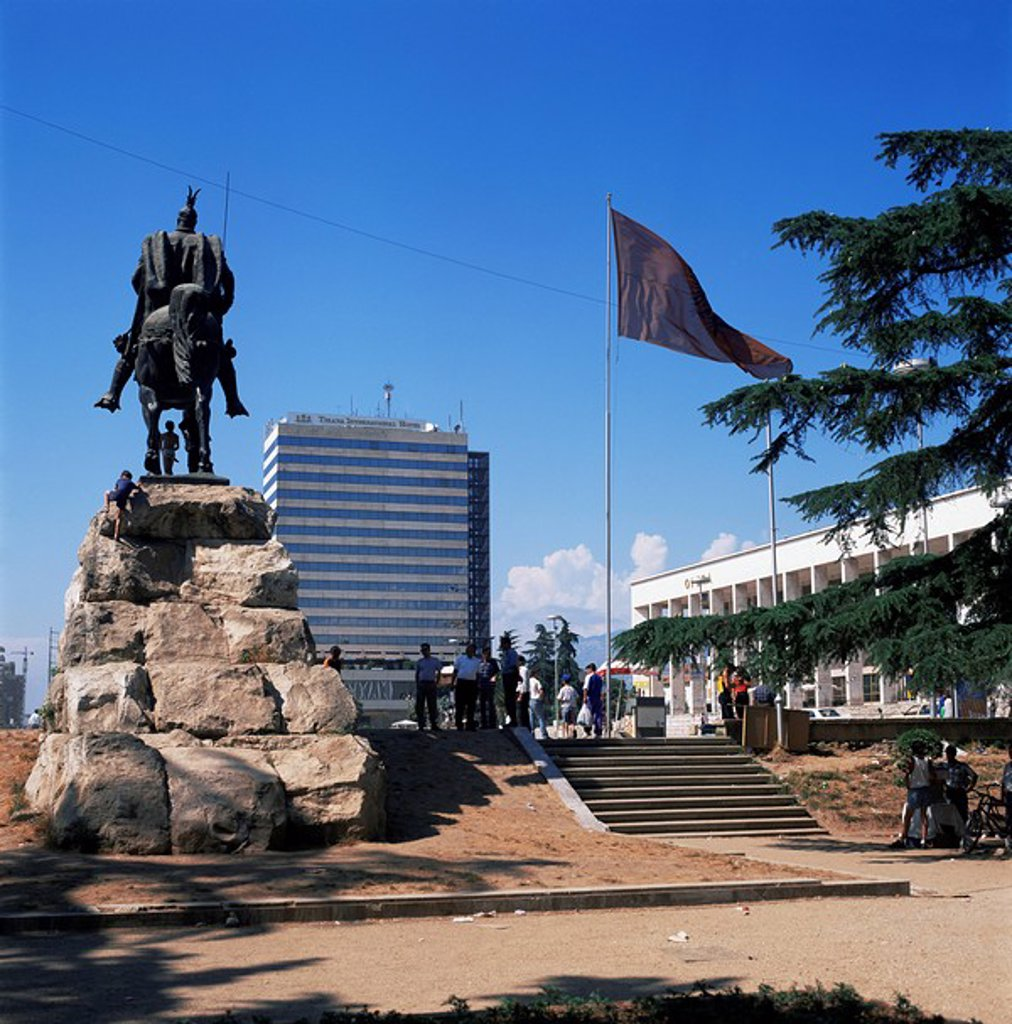Stock Photo: 1890-8858 Central Square, Tirana, Albania, Europe
