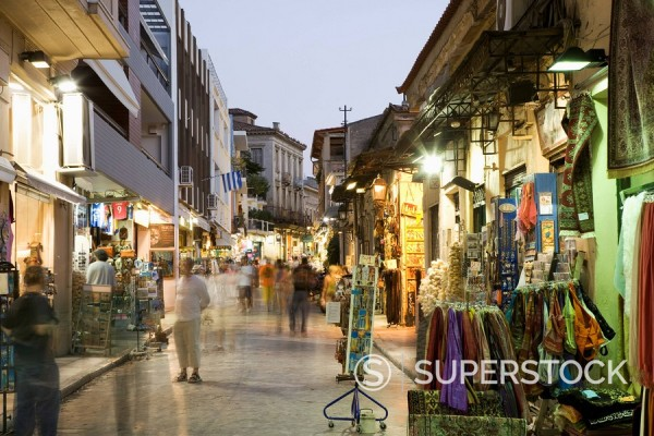 The Plaka District, Athens, Greece, Europe : Stock Photo