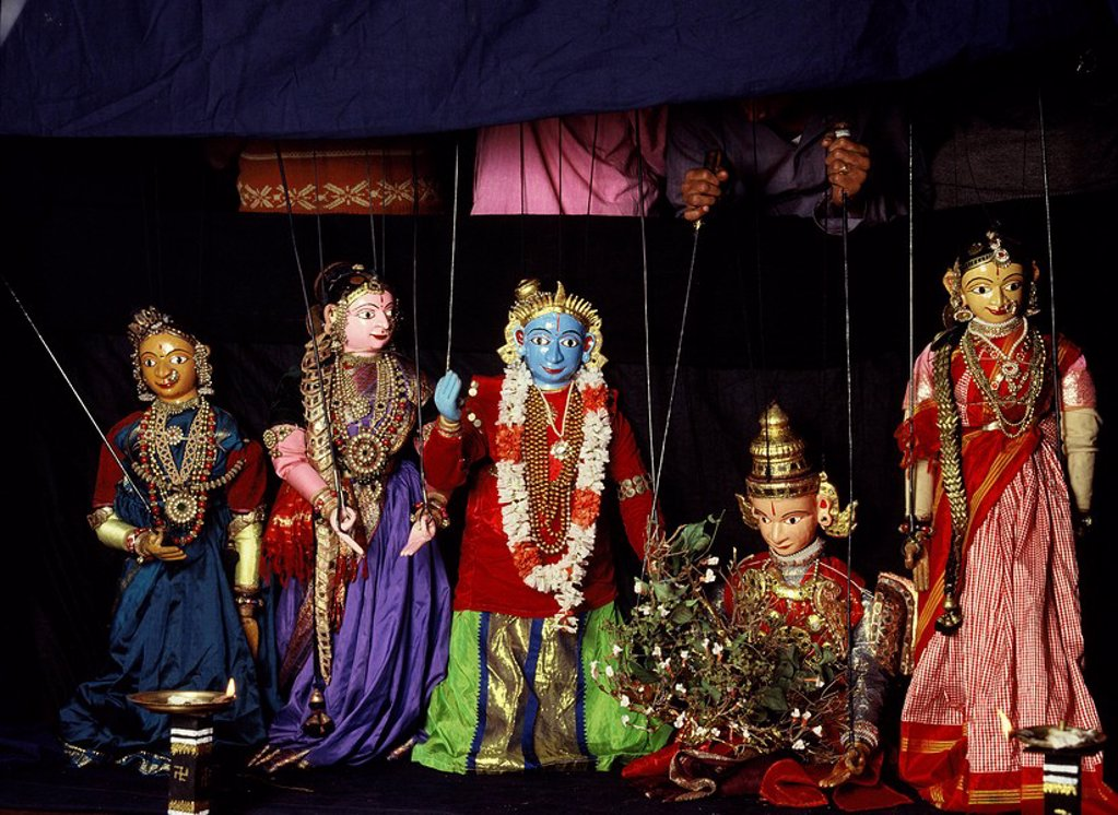 Stock Photo: 1890-89759 Rod puppets in Karnataka, India, Asia