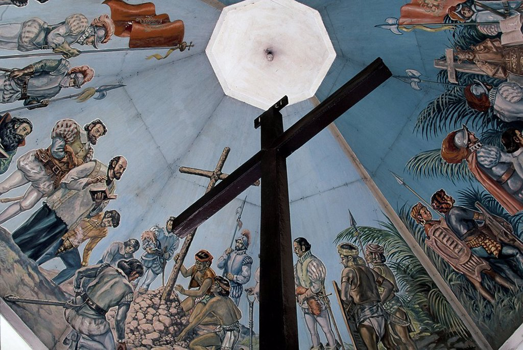 Stock Photo: 1890-90012 Magellan´s Cross,Christian cross planted by Portuguese and Spanish explorers as ordered by Ferdinand Magellan upon arriving in Cebu in 1521, Cebu, Philippines, Southeast Asia, Asia
