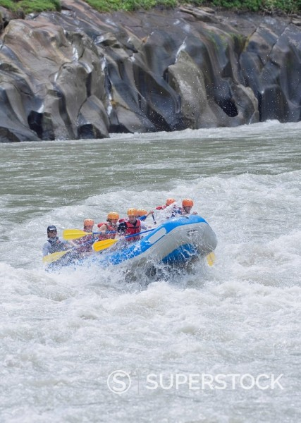 Stock Photo: 1890-91639 White water rafting, Pacuare River, Turrialba, Costa Rica, Central America