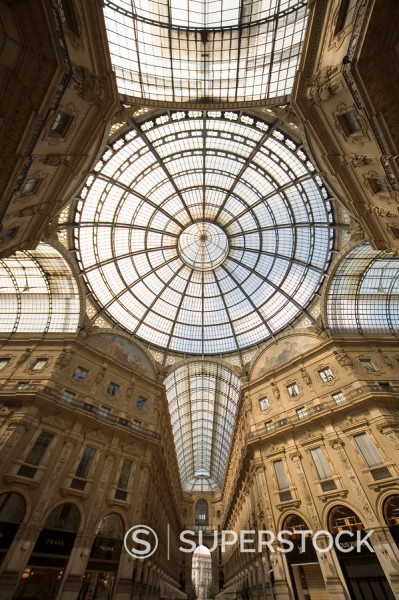 Vittorio Emanuele´s Gallery, Milan, Lombardy, Italy, Europe : Stock Photo