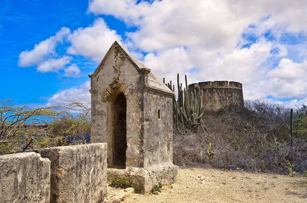 Fort Beekenburg, Caracas Bay, Curacao, Netherlands Antilles, West Indies, Central America : Stock Photo
