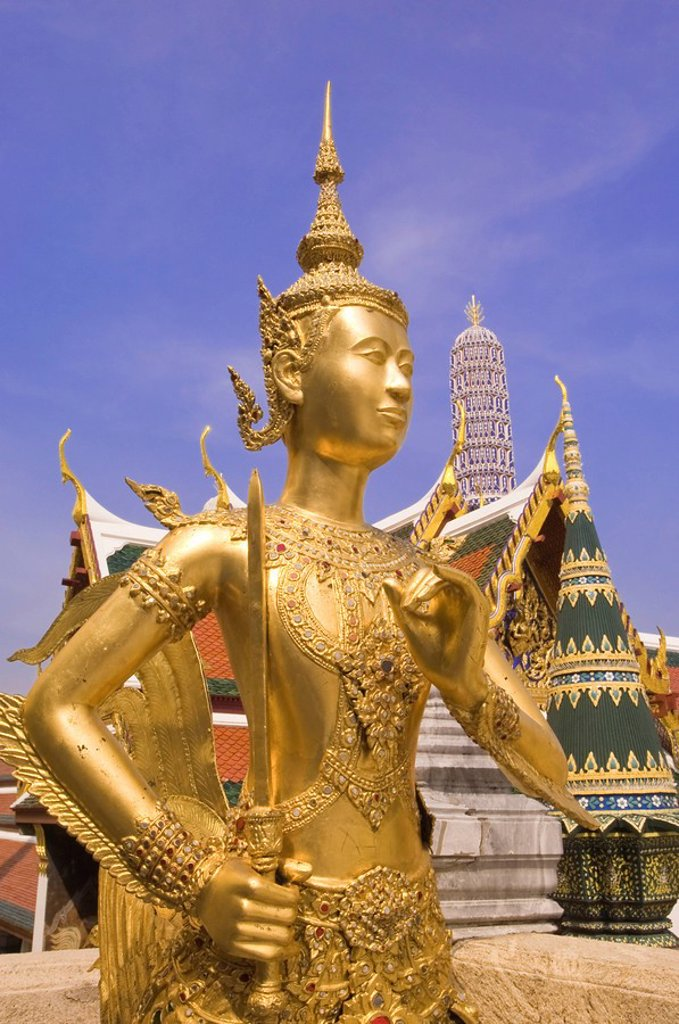 Stock Photo: 1890-93491 Temple of the Emerald Buddha Wat Phra Kaew, Grand Palace, Bangkok, Thailand, Southeast Asia, Asia