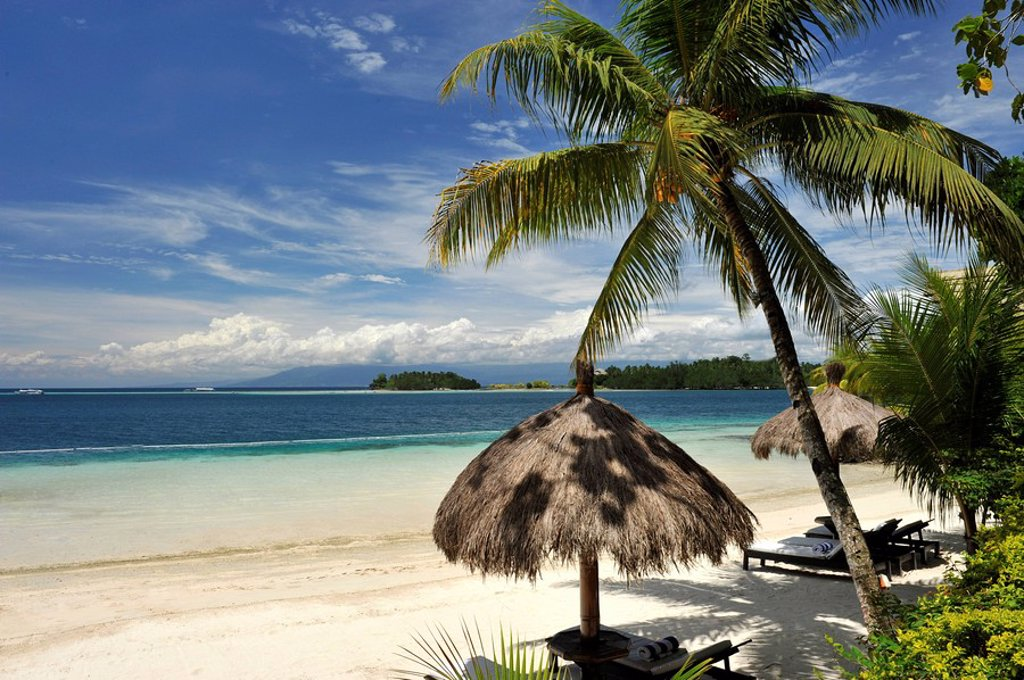 Beach, Pearl Farm Resort on Samar Island in Davao, Mindanao, Philippines, Southeast Asia, Asia : Stock Photo