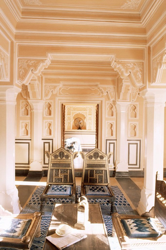 Stock Photo: 1890-9550 Chanwar Palki Walon_Ki Haveli mansion, 400 years old, restored to its original state, Anokhi Museum, Amber, near Jaipur, Rajasthan state, India, Asia