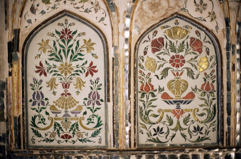 Stock Photo: 1890-9595 Interior detail, Amber Fort, one of the great Rajput forts, Amber, near Jaipur, Rajasthan state, India, Asia
