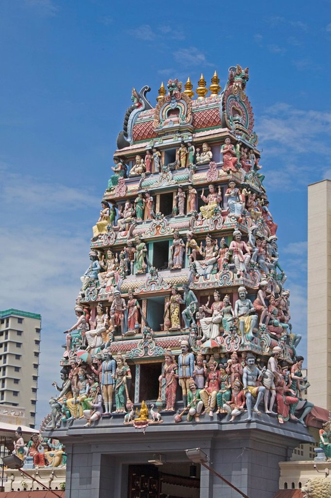 Sri Mariamman Temple, Chinatown, Singapore, Southeast Asia, Asia : Stock Photo