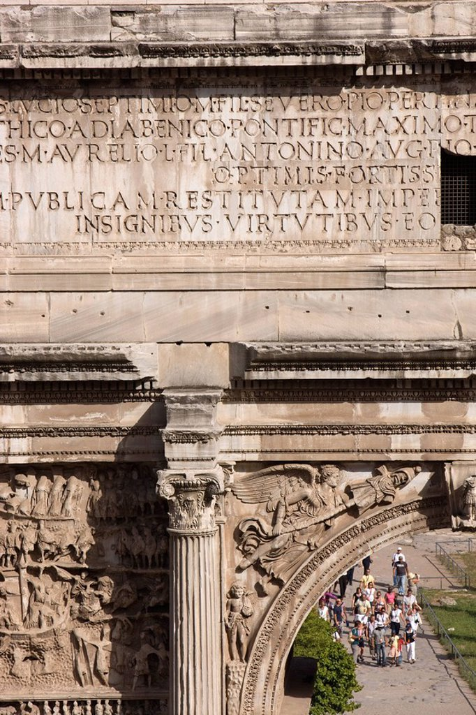 Detail, Forum, Rome, Lazio, Italy, Europe : Stock Photo