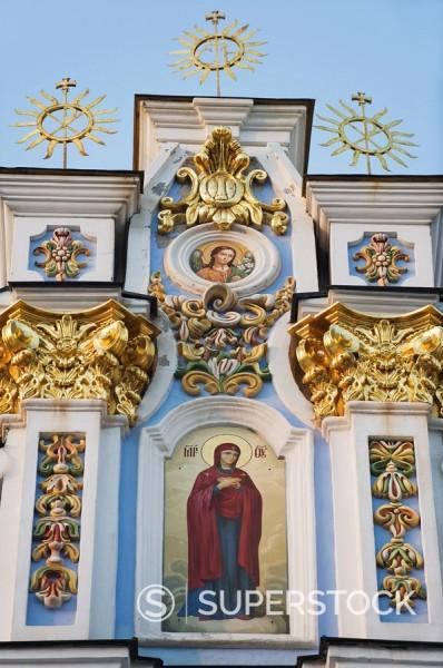 Stock Photo: 1890-97159 St. Michaels Gold Domed Monastery, 2001 copy of 1108 original, Kiev, Ukraine, Europe