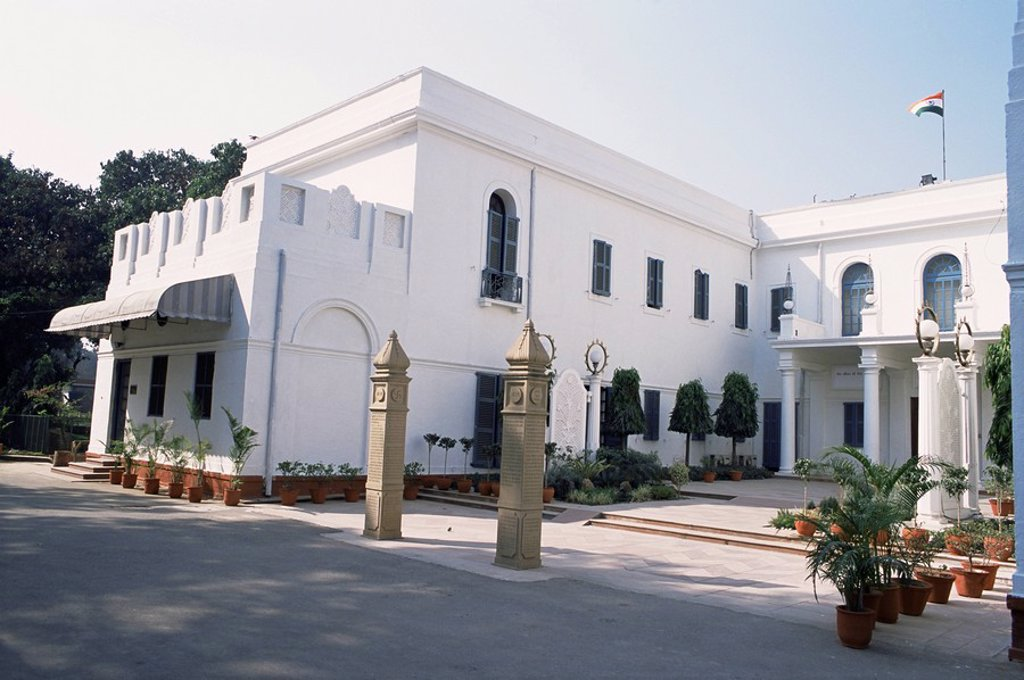 Stock Photo: 1890-9751 Birla House, in the grounds of which Mahatma Gandhi was assassinated, Delhi, India, Asia